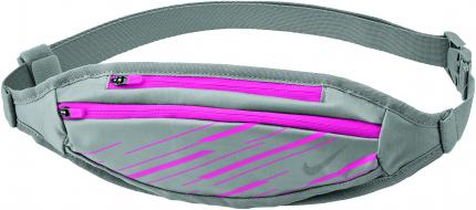 NIKE SMALL CAPACITY WAISTPACK WOLF GREY/HYPER PINK/SILVER