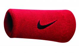NIKE SWOOSH DOUBLEWIDE WRISTBANDS VARSITY RED/WHITE OSFM